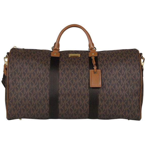 020fe53318c7 Michael Kors Bags | Mk Signature Xl Travel Duffle Bag Brn | Poshmark